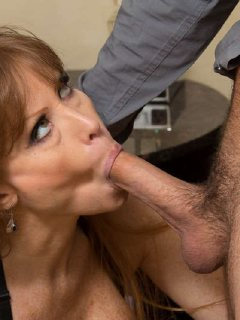 Busty long haired babe Darla Crane sucks and fucks