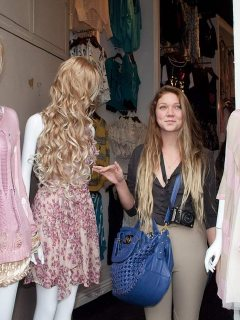 Jessie Andrews in the fashion district