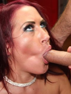Tyla Moore gets splattered in cum in a party
